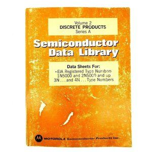 Semiconductor Data Library Vintage 1974 Book